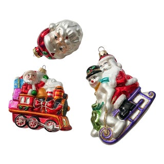Santa Claus Ornaments, Set of 3 For Sale