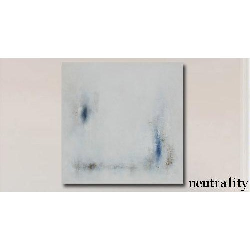 Modern Minimal Large Abstract Neutral Canvas Painting For Sale In Phoenix - Image 6 of 6