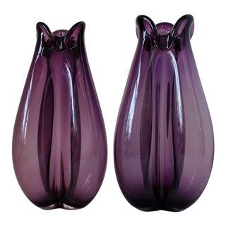 Per Lütken for Holmegaard Vases, a Pair For Sale
