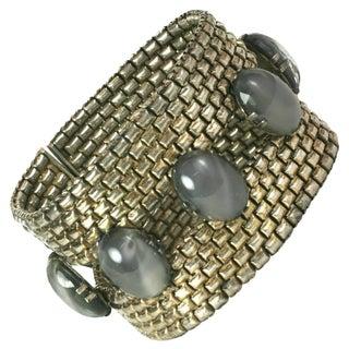 French Art Deco Faux Moonstone Bracelet For Sale