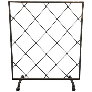 Incredible Iron Screen or Room Divider For Sale