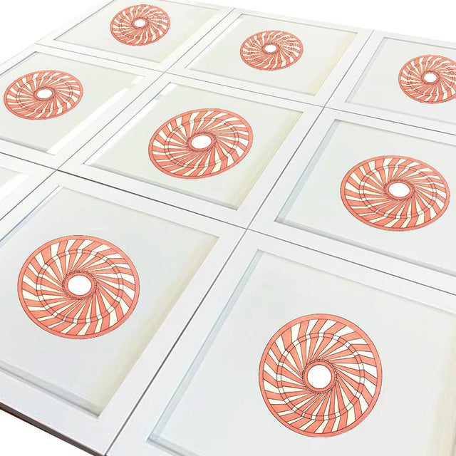 Contemporary Natasha Mistry Minimalist Geometric Spiral Ink Drawings - Set of 9 For Sale - Image 3 of 10