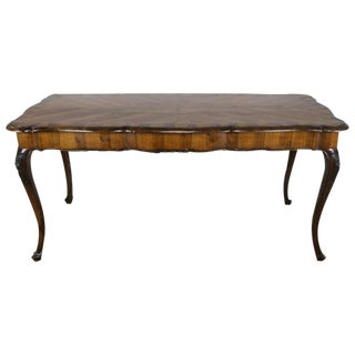 French Inlaid Walnut Veneered Writing Table, Circa 1900 For Sale