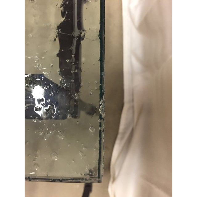 2000 - 2009 Charleston Forge Custom Glass/Iron End Tables - a Pair For Sale - Image 5 of 6