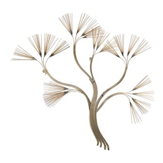 Tree Branch Metal Wall Sculpture by Curtis Jere, 1988 For Sale