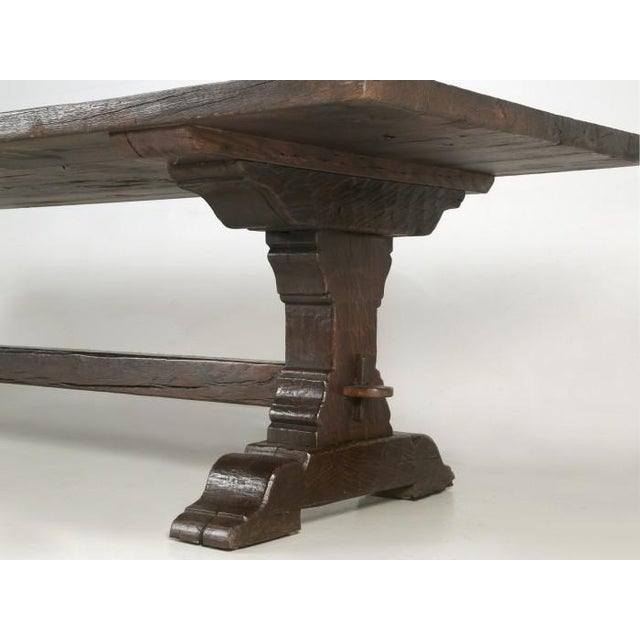 Antique French Oak Trestle Dining Table For Sale - Image 11 of 13