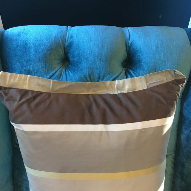 Designers Guild Striped Pillow For Sale - Image 4 of 4