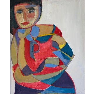 "Abstract Portrait ""Many Layers of a Woman"" by Anne Darby Parker For Sale"