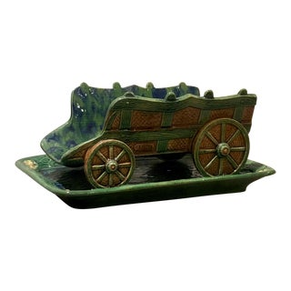 1870s French Asparagus Stand and Underplate For Sale