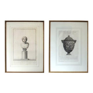 Two 18th Century Italian Neoclassical Engravings in Giltwood Frames For Sale