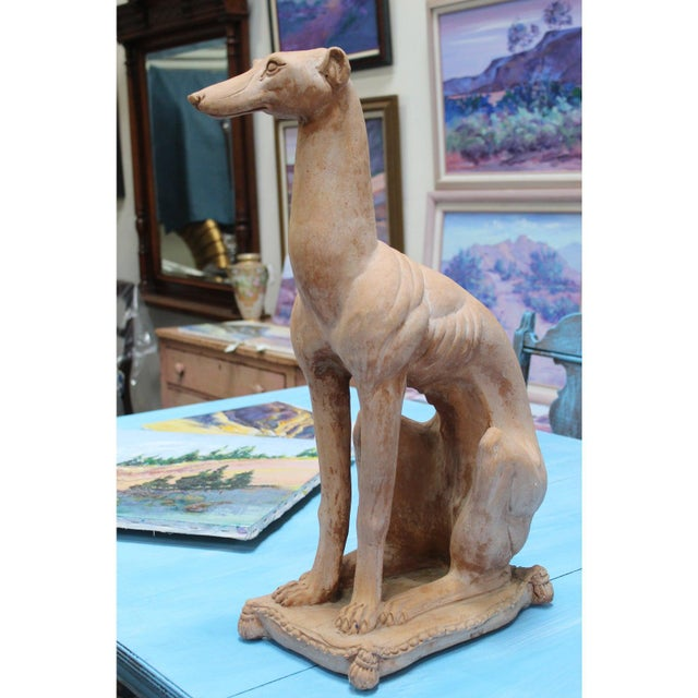 Italian Hollywood Regency Traditional Whippet Greyhound Dog Statues - a Pair For Sale In San Diego - Image 6 of 13