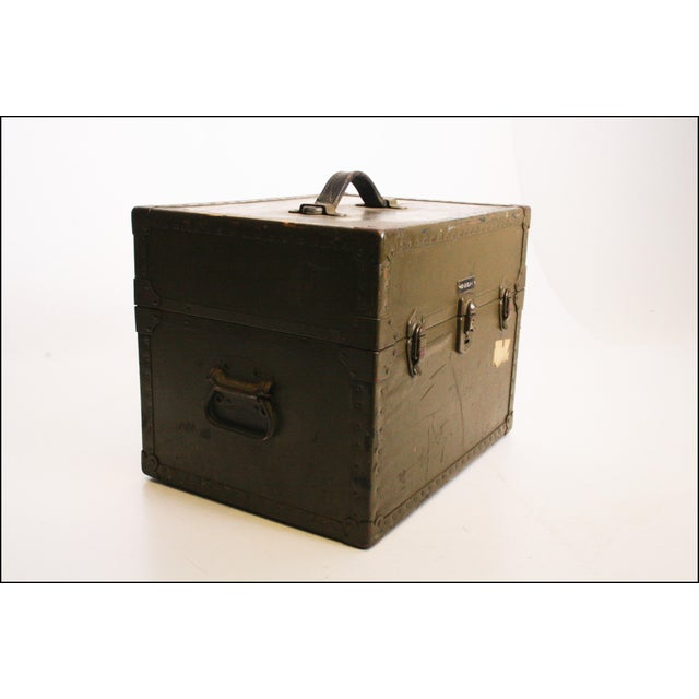Vintage Industrial Green Military Hard Case - Image 6 of 11