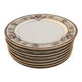 Image of Floral & Fruit Design Salad Plates - Set of 8 For Sale