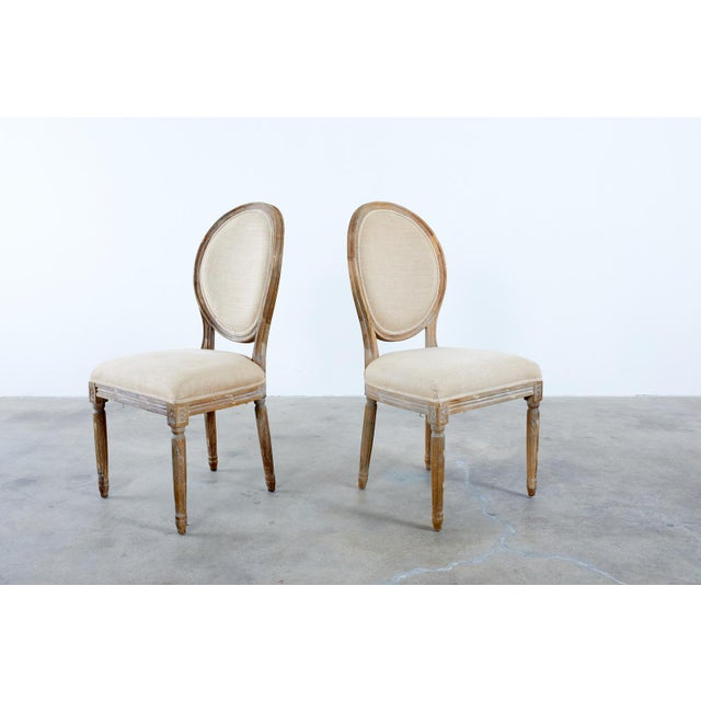 French Louis XVI Style Oak Dining Chairs - Set of 10 For Sale - Image 10 of 13