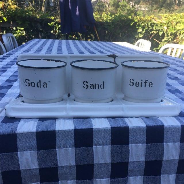 """Enameled """"Soda Sand Seife"""" Shelf - Image 2 of 6"""
