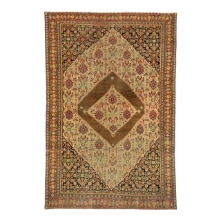 Antique Persian Senneh Rug - 04'03 X 06'05 For Sale