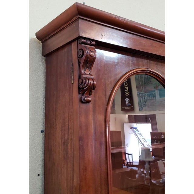 Custom Made c.1880 Mahogany Victorian Adjustable & Removable Shelves This piece is both rich in color and personality AND...