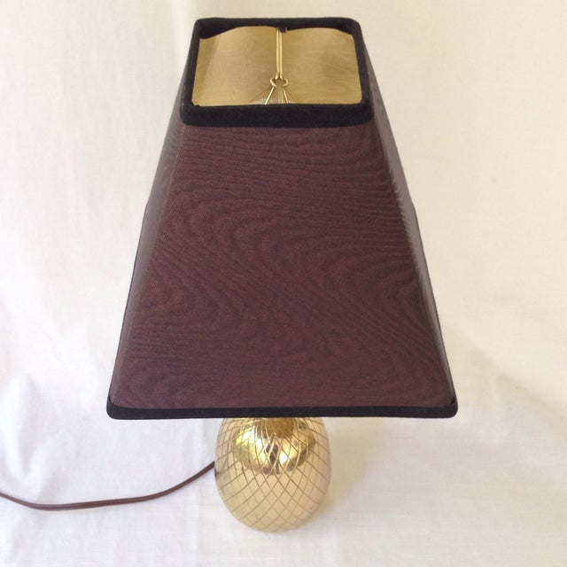 Brass Pineapple Lamp For Sale - Image 4 of 5