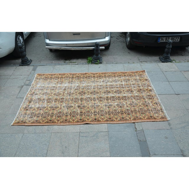 Turkish Brown Rug - 4′11″ × 7′8″ For Sale - Image 4 of 6