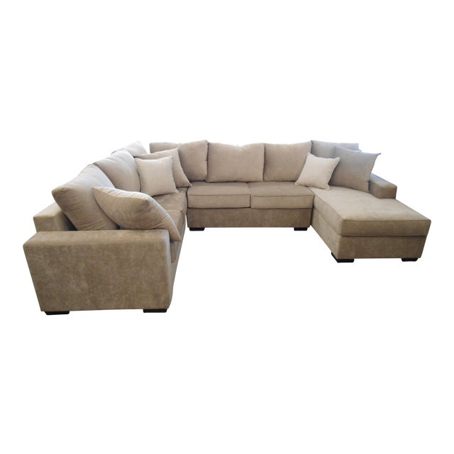 3-Piece Beige Sectional Sofa - Image 1 of 4