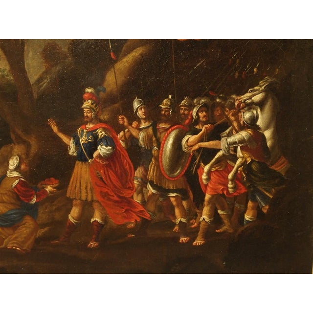 Late 18th Century 18th Century Italian Oil Painting on Canvas in Giltwood Frame For Sale - Image 5 of 11