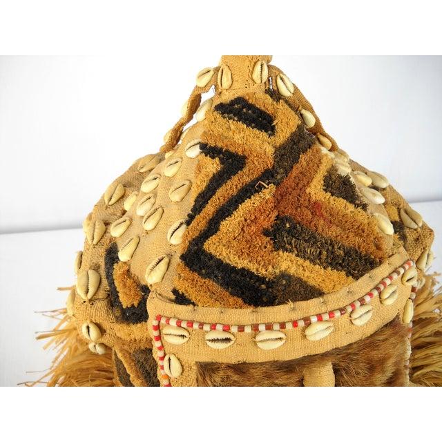 Glass Kuba Mukenga Moshambwooy African Helmet For Sale - Image 7 of 9