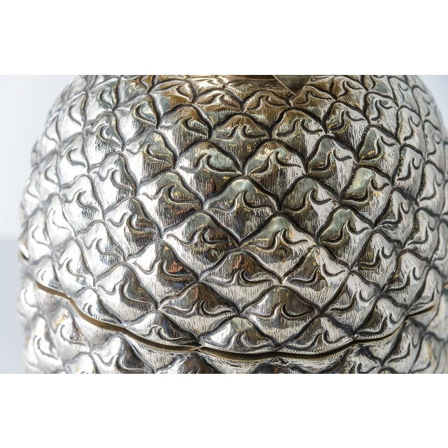 1960s Fabulous Giant Pineapple Silver Box/Ice Bucket Portugal For Sale - Image 5 of 10