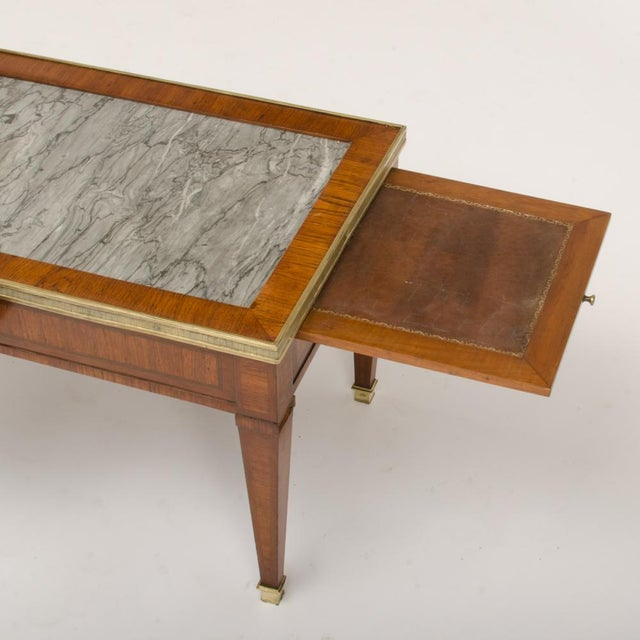 French 1940 French Directoire Style Mahogany Coffee Table For Sale - Image 3 of 6