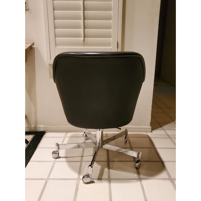 The Classic Black Desk Office Chair by Ward Bennett for Brickel Associates would be an amazing addition in a Mid-Century...