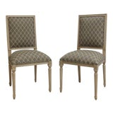 Image of Ethan Allen Swedish Side Chairs - a Pair For Sale