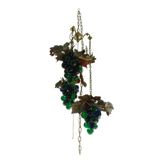 Vintage Grape Ceiling Fixture For Sale