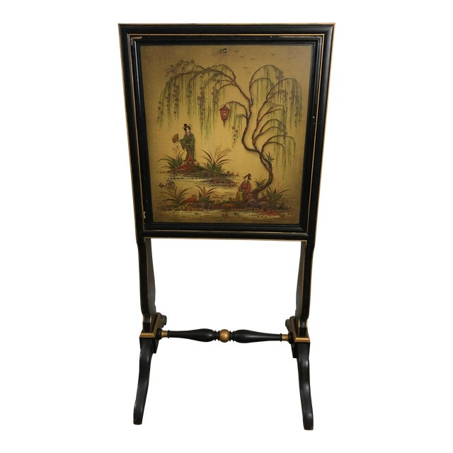 Antique Chinoiserie Writing Desk With Fold-Down Writing Surface For Sale