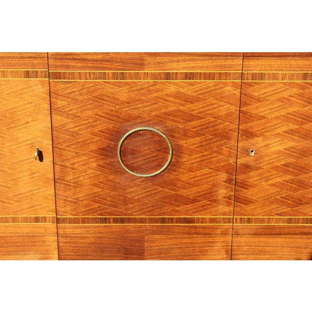 Master Piece French Art Deco Sideboard / Buffet Rosewood By Jules Leleu Circa 1940s For Sale - Image 10 of 11