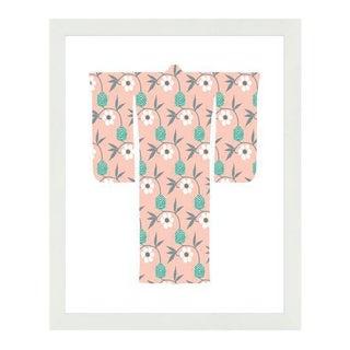 """""""Kimono-Flowers White"""" Framed Wall Art For Sale"""