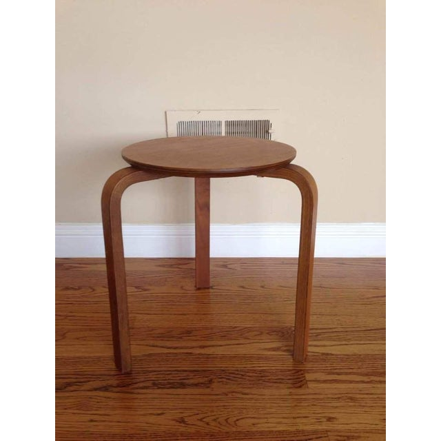 Alvar Aalto Style Tripod Accent Table - Image 2 of 4