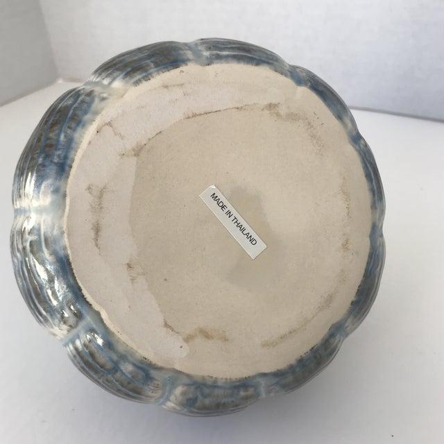 Unique Blue and Brown Ceramic Vase - Image 3 of 5