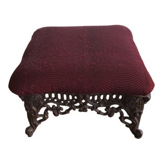Vintage Cast Iron Footstool For Sale