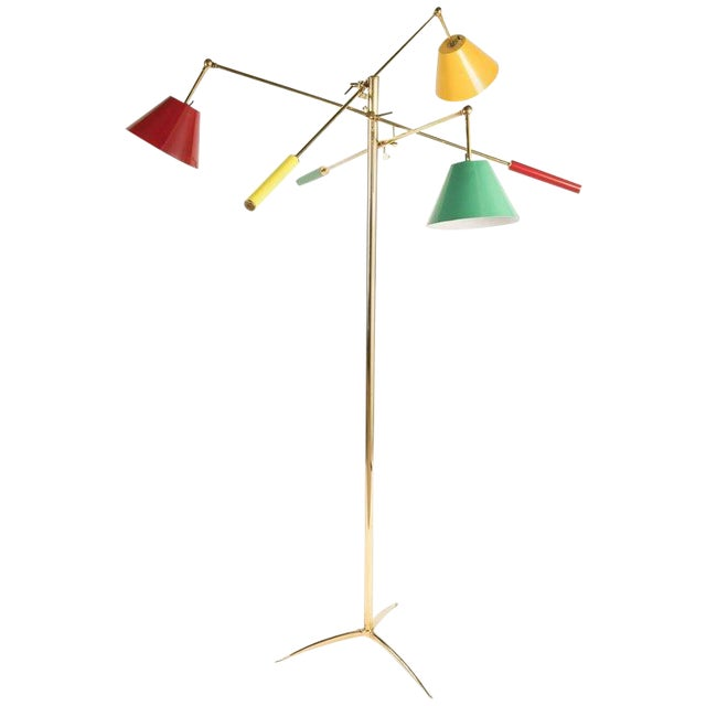Triennale Floor Lamp Attributed to Gino Sarfatti For Sale