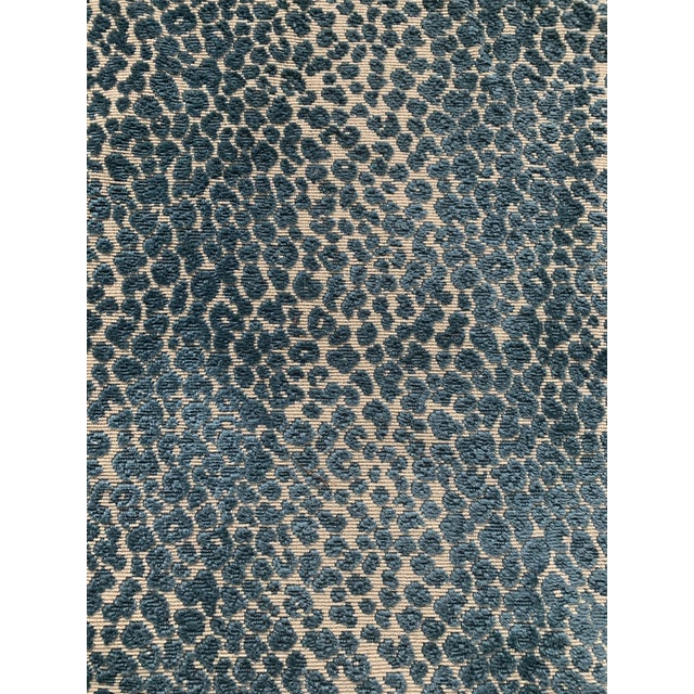 Cowtan & Tout Blue Leopard Cut Velvet Fabric For Sale In New York - Image 6 of 10