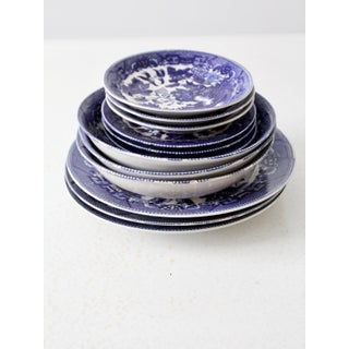 Vintage Blue Willow Dinnerware Set of 12 Preview