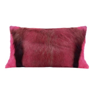 Modern Springbok Pillow in Hot Pink 18x10 For Sale