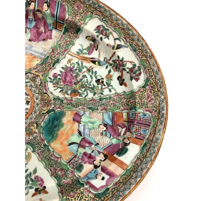 Exceptional & Large Chinese Export Canto, Rose Medallion Platter, 18th C. For Sale In West Palm - Image 6 of 11