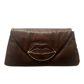 Yves Saint Laurent Dali Lips Clutch Ysl 2003 Tom Ford Era Collectors For Sale