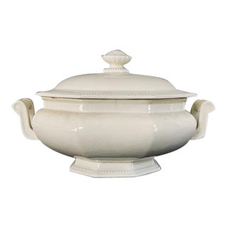 Antique French Creamware Tureen For Sale