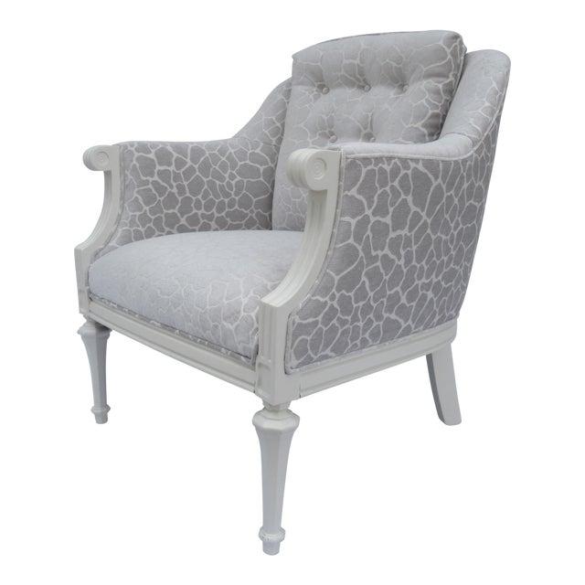 Final Markdown -Dorothy Draper Hollywood Regency Club Chair With Giraffe Chenille For Sale