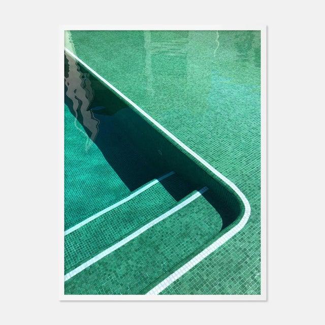 Pool by Christine Flynn in White Framed Paper, Medium Art Print For Sale - Image 4 of 4
