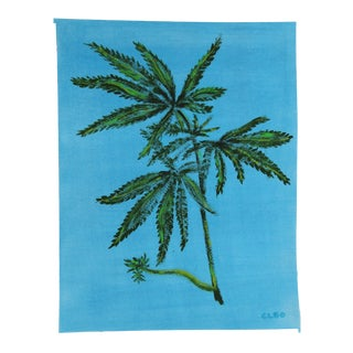 Cannabis Plant by Cleo Plowden For Sale