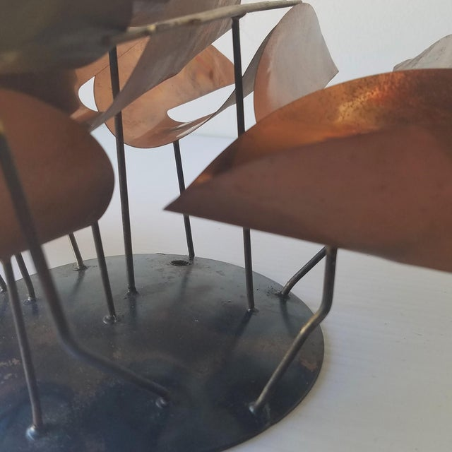 Copper Mid 20th Century Unmarked Curtis Jere Wall Sculpture For Sale - Image 8 of 11