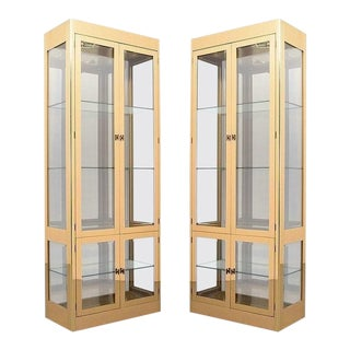 Mastercraft Brass Display Cabinets - A Pair For Sale