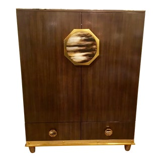 Modern Henredon Bihuber Barclays St. Bar Cabinet For Sale